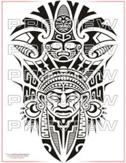 mayan tribal tattoo designs awesome tribal priest design aztec ideas