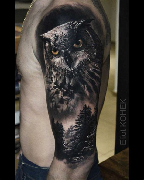 owl tattoo realistic best tattoo ideas gallery
