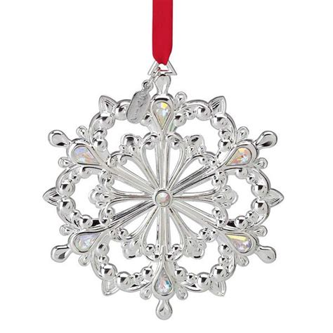 lenox twelve days of christmas snowflake ornaments 2012 lenox snow majesty snowflake silver ornament silver superstore