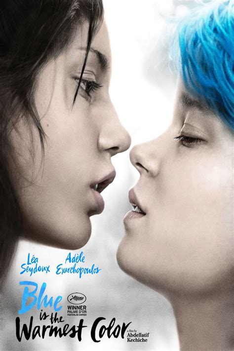 film blue is the warmest colour trailer blue is the warmest color poster pelicular pinterest