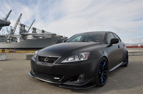 tuned lexus is 250 tuned matte black wide body lexus is350