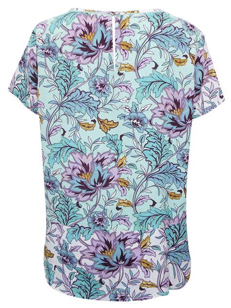 Floral Sleeves Best Seller 1 marks spencer per una green floral print sleeve top ebay
