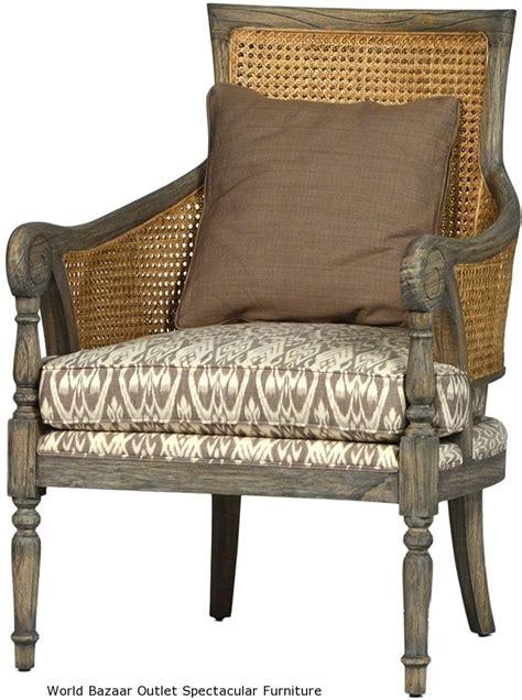 Wicker Accent Chair 28 Quot Wide Accent Chair White Cedar Wood Woven Rattan Linen Cushion W Pillow Ebay