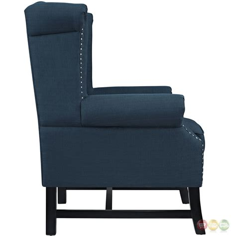 Armchair Upholstered by Steer Traditional Button Tufted Upholstered Armchair W