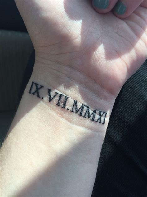 roman numeral tattoo meaning numeral wrist designs ideas and meaning