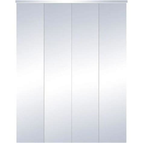 Bifold Mirrored Closet Doors Home Depot Truporte 24 In X 80 In 321 Series Steel White Mirror