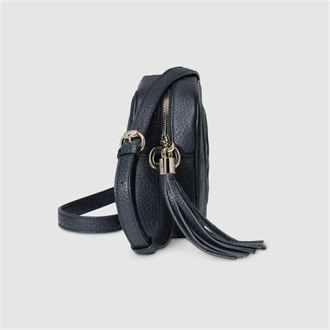 Gucci Ns Leather Blue gucci soho leather disco bag in blue lyst