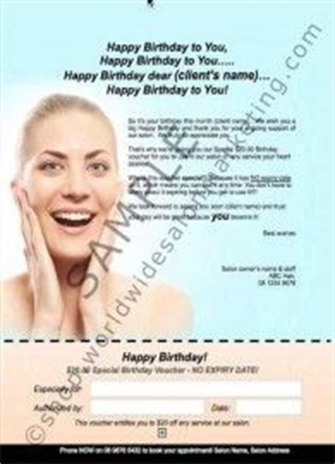 Customer Birthday Letter 1000 Images About Salon Marketing Templates Gift Vouchers And Referrals On