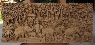 Teak Sculpture Thai Wall Hangings Table Mounts Free