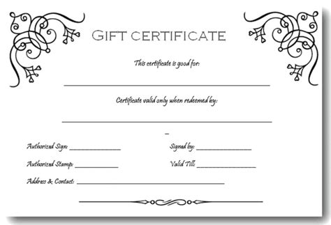 free gift certificate templates word certificate in word award certification template