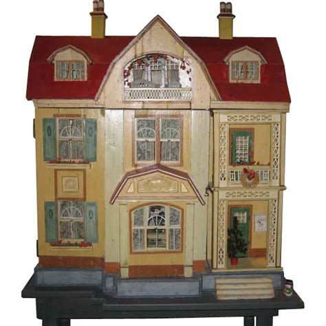 antique dolls house antique german gottschalk red roof large doll house c1912 from sondrakruegerantiques on ruby lane
