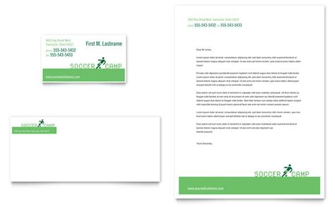 Baseball Card Template Indesign by Soccer Sports C Business Card Letterhead Template Design