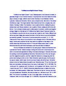 Midsummer Nights Essay by A Midsummer S Essay Gcse Marked By Teachers