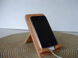 Smartphone Stands For Desk Iphone Ipod Touch Smart Phone Hand Crafted Wooden By