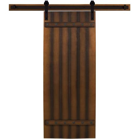 interior barn door hardware home depot steves sons 30 in x 90 in tuscan i stained hardwood