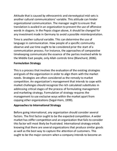 Cross Cultural Experience Essay by Sle Essay On Cross Cultural Management