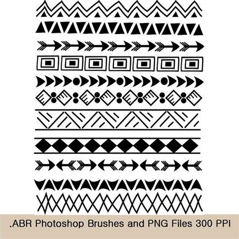 photoshop brushes and clip art borders indian tribal 8 5
