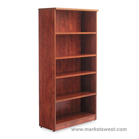 alera 5 shelf laminate bookcase