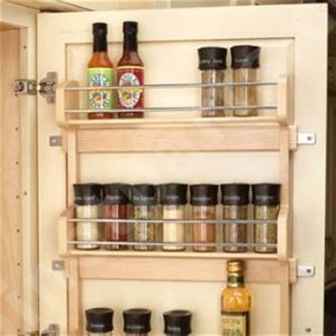 kitchen cabinet spice rack organizer door mount spice rack traditional by cabinet parts