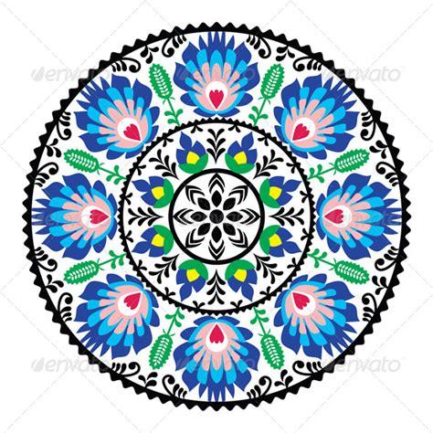 pattern in circle polish traditional folk pattern in circle folk circle