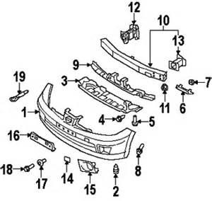 Nissan Versa Parts 2007 Nissan Versa S Bumper Components Nissan Parts
