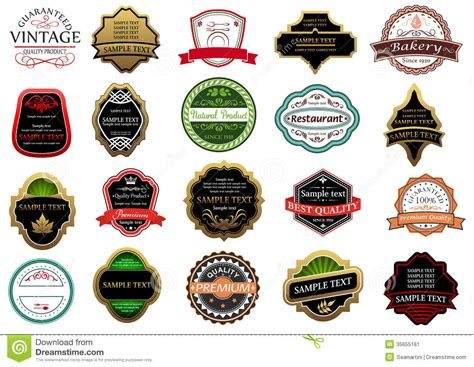 Label Stickers banners labels and stickers set stock image image 35655161