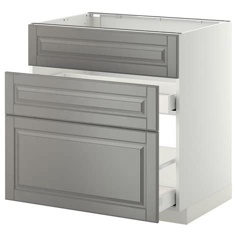 ikea kitchen bodbyn base cabinet with 3 drawers 1 metod maximera base cab f sink 3 fronts 2 drawers white