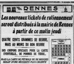 Tickets De Rationnement by Rationnement Et Tickets Wikirennes