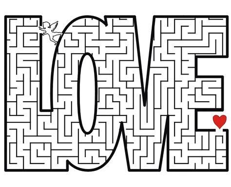 printable love maze printable love maze activity from print activities