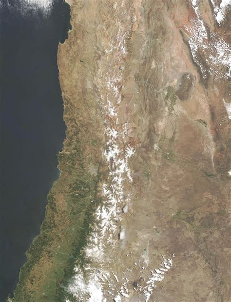 imagenes satelitales chile satellite image photo of central chile south america