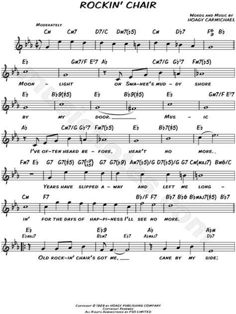 rocking chair song lyrics hoagy carmichael quot rockin chair quot sheet leadsheet