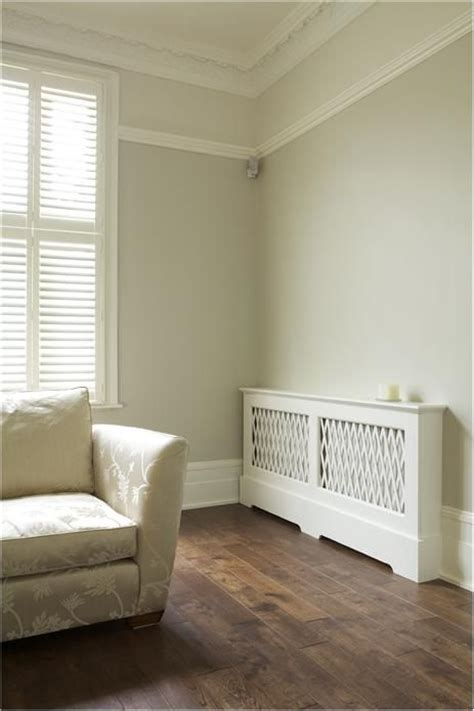 farrow and lounge with walls in shaded white below rail modern emulsion slipper satin