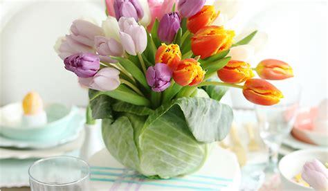 Easter Arrangements by Diy Tulip Cabbage Flower Arrangement For Easter