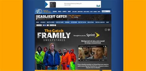 Sprint Sweepstakes - discovery deadliest catch sprint framily sweepstakes