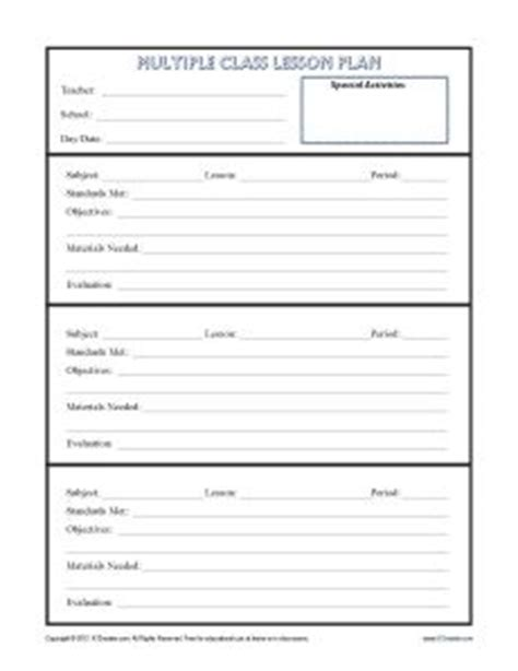 lesson plan template for high school spanish single