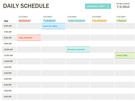 create a printable daily schedule daily schedule template printable daily planner template