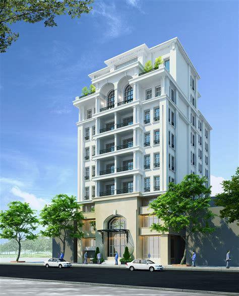 3d apartment detailed neoclassical apartment building 3d model max