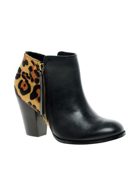 aldo cedrina leopard ankle boots in black blackleopard