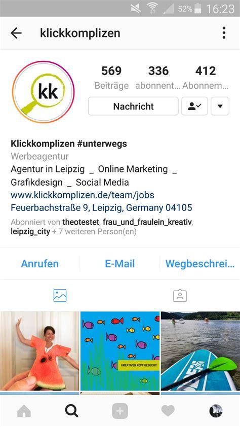 bio instagram return instagram bio so geht s klickkomplizen