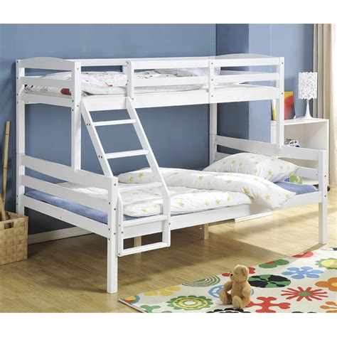 triple bunk bed uk hastings triple bunk bed in white nao nani