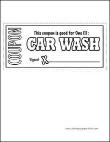 Car Wash Coupon Template by S Day Color Page Coloring Pages For