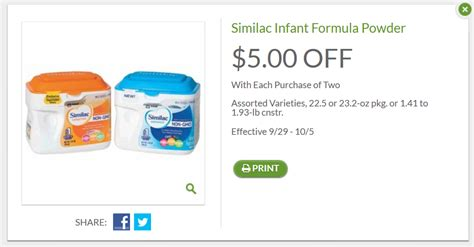 5 Similac Printable Coupon save 25 similac for october formula coupons 4
