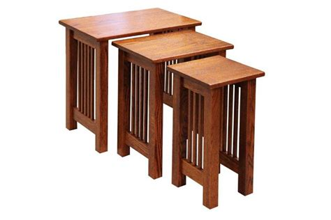 Stacking End Tables amish mission nesting end tables set of three