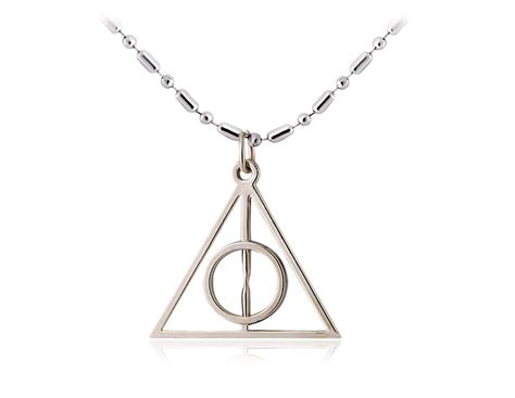 harry potter triangle the deathly hallows pedant necklace