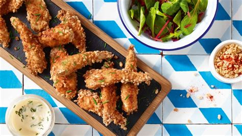Rice Pop Chicken recipe chicken goujons with rice pops sainsbury s