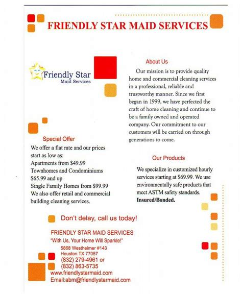 friendly star maid services houston tx 77057 832 279 4961