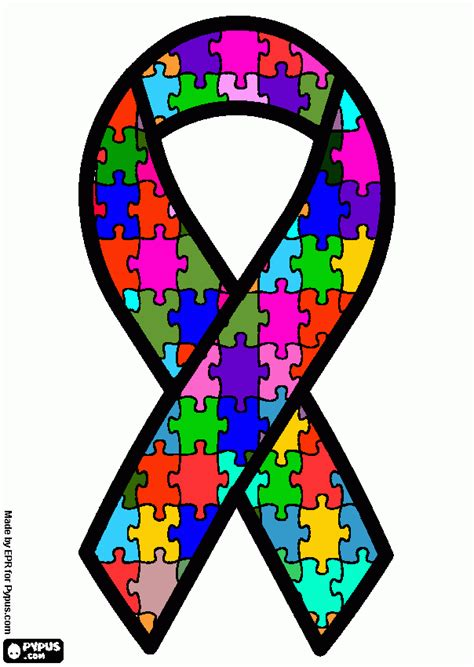 autism awareness color free coloring pages of autism awareness ribbon