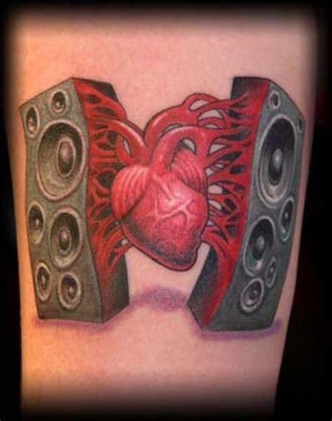 speaker tattoo fall in with health and dia a