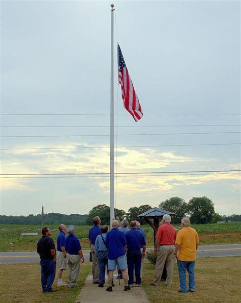 Stewart Works The Pole by Flagpole Dedication Waltontribune News