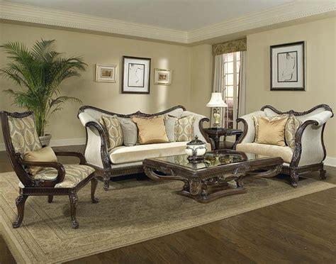 Living Room Sets by Living Room Set In Rich Brown Finish